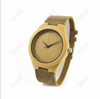 relojes al por mayor de bambú se venden como pan relojes de la correa de cuero de alta calidad forma la tabla de madera superventas Europa y América del estilo