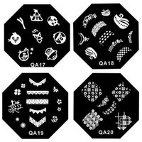 Wholesale Creative DIY nail art stamp stamping image plate template QA series Nail reusable Sunflower QA