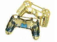 pas cher placage remplacement du disque contrôleur Métal Housse Shell pour Sony pour PlayStation 4 PS4