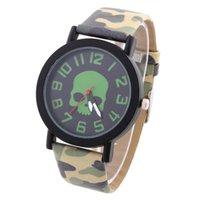army fabric - New Quartz Wrist Watch Army Analog Watches Fabric Skeleton Sports Watch Alloy Wristwatches JYB20