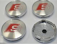 Wholesale 20pcs high quality alloy chrome mm sline S wheel center caps hub cover car badges emblem