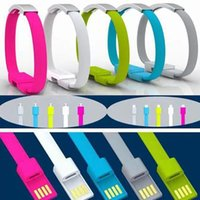 Wholesale DHL micro usb cable phone charger android braided silicone fabric Bracelet style for cellphone S6 i6 cables