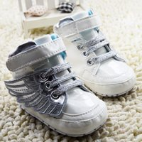 Spring / Autumn angels hooks - 2015 hot selling baby shoes first walker White angel wings modelling toddler boy shoes comfortable soft soled prewalker for newborn ab2703