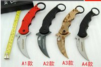 Cheap wholesale FOX G10 Karambit knife stainless steel Outdoor camping knife travel tool Gift folding knives