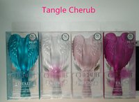 angels cherub - Tangle Cherub Mini Professional Hair Brushes Perfect Angel Detangling Wet Dry Hair Combs Anti Static Salon Elite Brush DHL