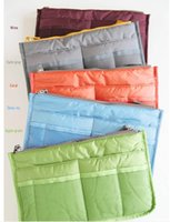 Wholesale 11 colors Bag in Bag Dual Insert Multi function Handbag Makeup Pocket Organizer Purse