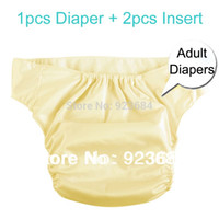 Wholesale Incontinence Diapers Pants Adult Nappies or Adult Cloth Diapers With Layers Thick Insert Diaper Insert AD