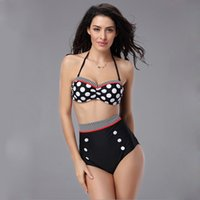 Cheap Retro Swimsuit Best High Waist