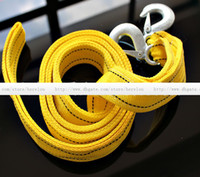 Wholesale Powerful car tow rope a bag tow rope reflection fluorescence m t double thick off road vehicles with trailers