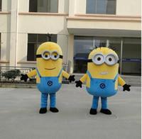beige corduroy - 2016 New Minions Mascot Costume Minions Mascot kevin Stuart and Bob Minions Mascot Costume