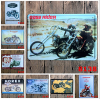 Wholesale 2015 fashion cm vintage retro classic motor rider poster tin sign Coffee Shop Bar Restaurant Wall Art decoration Bar Metal Paintings