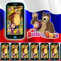 0-12 Months baby bear phone - Mobile Baby Phone Toy Talking Masha and Bear Russian Language Learning Machine