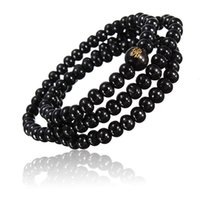 Wholesale Hot Sale New Arrival Fashion Buddhist Buddha Multi Chain Black Bead Bracelet Necklace for Men Women Gift order lt no track