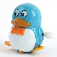 Wholesale Plastic Fun Movement Penguins Wind Up Walking Toys Kids Developmental Toys New Arrival