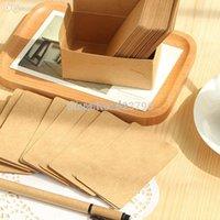 boxed greeting cards - Kraft vintage style DIY Multifunction Blank card box cards per set Greeting Card Gift Card Fashion