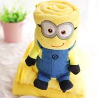 Wholesale New Hot Air conditioning blanket pillow Despicable Me Minion Minion siesta child car cushion a blanket blanket volumes