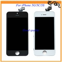 For Apple iPhone LCD Screen Panels 100% tested one by one 2015 New For iPhone 5 5C 5S Lcd Display +Touch Screen Replacement Repair Parts Full Assembly Free Shipping