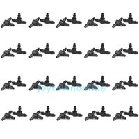 Wholesale 200Pcs Drop Irrigation Plastic Pipe Connector Joiner mm Barbed Tee Garden Micro Irrigation Sprinklers Connector Kit BHU2