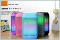 Wholesale Fashion new Wireless Bluetooth Mini Speaker MY530BT subwoofe HIFI speaker with colorful LED light Support USB TF Card handfree