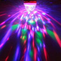 mini disco - Crystal like Mini Light Auto Rotating Party Disco Bar Ballroom Stage Lighting Effect B22 E27 LED RGB Stage Lamp Stage Light DHL L0576