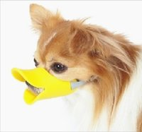 Wholesale Novelty cute duckbilled dog muzzle Bark bite stop Plastic dog mouth cover anti bite mask Y30126