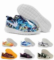 palm trees - Brand Roshe Run Running Shoes For Women Men Fashion WMNS Roshe Run Sea Blue Sunset Sky Palm Tree FB Leopard Print Lightweight Sneakers
