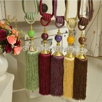 Wholesale 2015 Curtain Tieback Curtain Clip Accessory Decor Crystal Tassel Hanging Ball Tied To Lob The Bandage Accessories Decorations