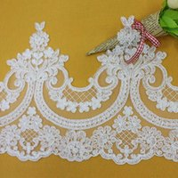 dress factory - high quality mesh embroidered lace bone lace fabric accessories Europe and embroidery factory dress accessories