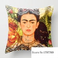 Wholesale Funny Frida Kahlo pillow cases two sides for12