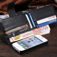 apple folder - Retro Women Men Wallet Purse Leather Case for iphone quot Plus S S C for Galaxy S3 S4 Note Cover Folder