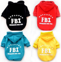 Wholesale A45 dog coat and dog Sweatshirts winter FBI letter design pet dog clothes pet outfits cheap dog clothes