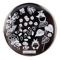 animation templates - New Stamping Plate hehe65 Animation Totoro Cartoon Forest Chestnut Mushroom Nail Art Stamp Template Image Transfer Stamp