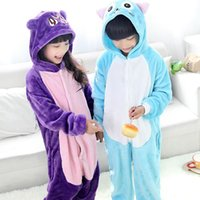 pajamas for children - 2015 Anime Purple Cat Luna Fairy Tail Happy Onesie For Children Cartoon Cosplay Costumes one piece Pajamas Kids