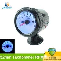 auto meter tacho - 2 inch mm universal Tachometer For Car Tacho Blue Color LCD rpm meter Gauges Racing Black Tachometers rpm Auto Gauge Meter
