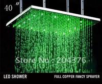 big rain shower - 1000 mm big top showerw led rain shower