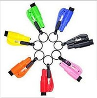 Wholesale Seatbelt Cutter Emergency Glass Breaker Key Chain Tool Smart AUTO Emergency Safety Hammer Escape Lift Save Tool SOS Whistle