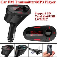Wholesale New Car Kit MP3 Player Remote Wireless FM Transmitter Modulator USB SD MMC LCD