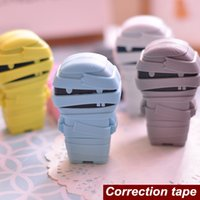 Wholesale 6 Novelty zombie correction tapes Mummy ribbon Stationery fita corretiva escolar corrective tape School supplies