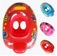 Wholesale Mickey McQueen Thomas Bee Hello KT Snow White Kid Cartoon Inflatable Swimming Life Ring Inflatable Swimming Ring with Handle LJJC1526
