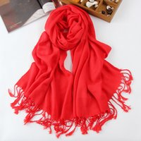 Wholesale 2015 hot style cotton tassel scarf pure color long shawl scarf warm han edition female characters