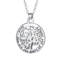 Wholesale 2017 Hot Mom You Are The Heart Of Our Family family Tree Of Life Chain Necklace Fashion Pendant Necklaces N1663 inches