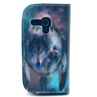 Cheap New Arrive Amazing Wolf Pattern Wallet Flip PU Leather Case for Samsung Galaxy S3 Mini i8190 Mobile Phone Accessories