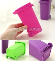 Other trash cans - Piece Trash Can Pen Holder Recycling Can Storage Bins Garbage Can Pencil Holder Set