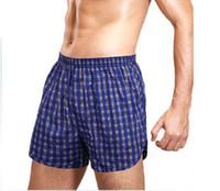 Wholesale High Quality Men S Boxers Men Underpants Cotton Men S Boxer Shorts Plaid Men Casual Loose Trunk Cueca Underwear
