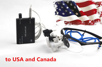 Wholesale Black Dental Lab Surgical Loupe Magnifier binocular magnifier with LED Head Light Lamp to the USA and Canada CE Proved
