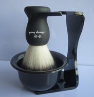 shaving brush - Men Soap Dish Stand Bowl Shaving Razor Beard Brush Shaver Kit Set