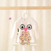 baby infant garment - Newborn Baby Girls Garment Long Sleeve Round Collar Infant Blouse Cute Cartoon Applique Tshirt For toddler Fit Age K101