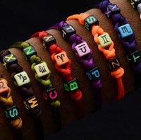 twelve south - Handmade Friendship Bracelets Jewelry Gift Womens Mens Twelve Constellation Beads Charms Bracelet Can Adjust Hot Sale Free Shippin