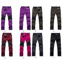 Wholesale New Brand Waterproof Pantalones Women Softshell Pants Outdoor Snowboard Fleece Ski Pants Mens Snow Pants Hiking Camping