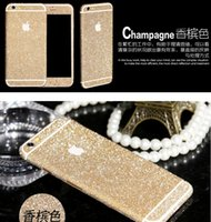 Wholesale Luxurious Full Body Bling Diamond shiny Glitter Rainbow Front Back Sides Skin Sticker cover For Iphone S Plus S G C S